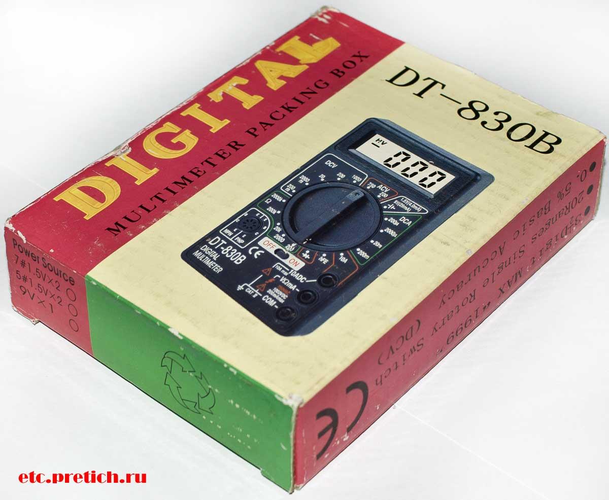 DT-830B мультиметр описание и отзыв