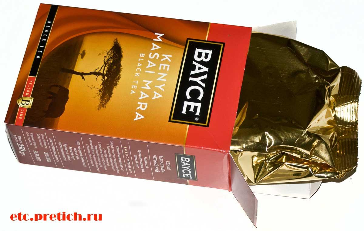 BAYCE Масаи Мара кенийский черный чай из Казахстана, о вкусе