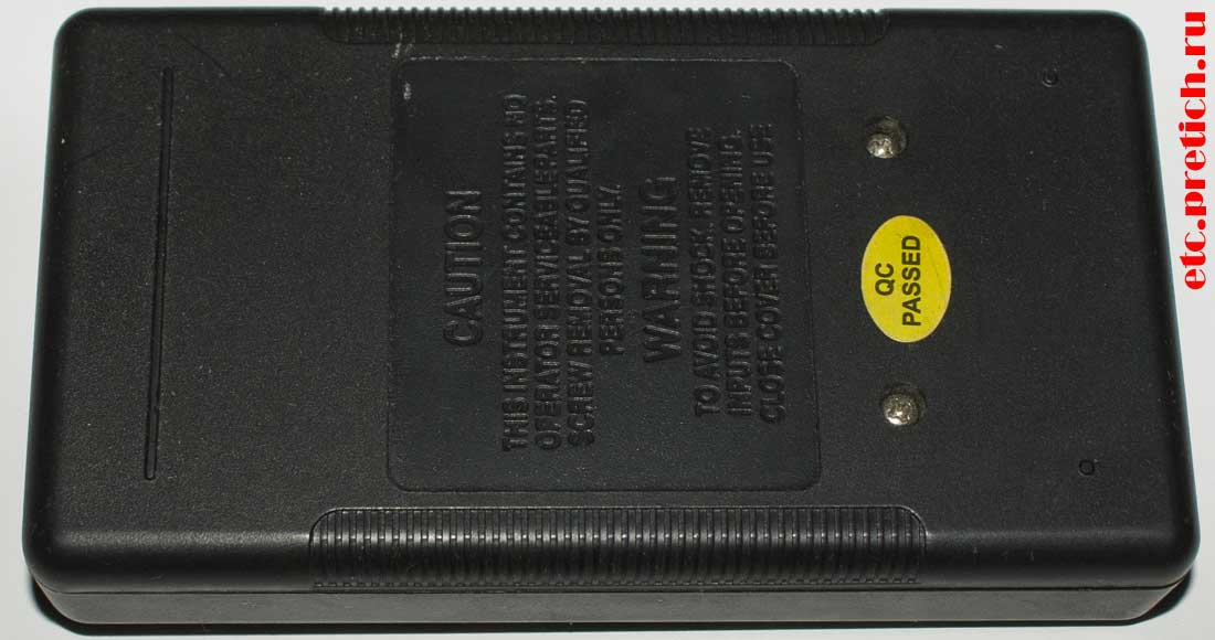 мультиметр DT-830B как поменять батарейку в приборе