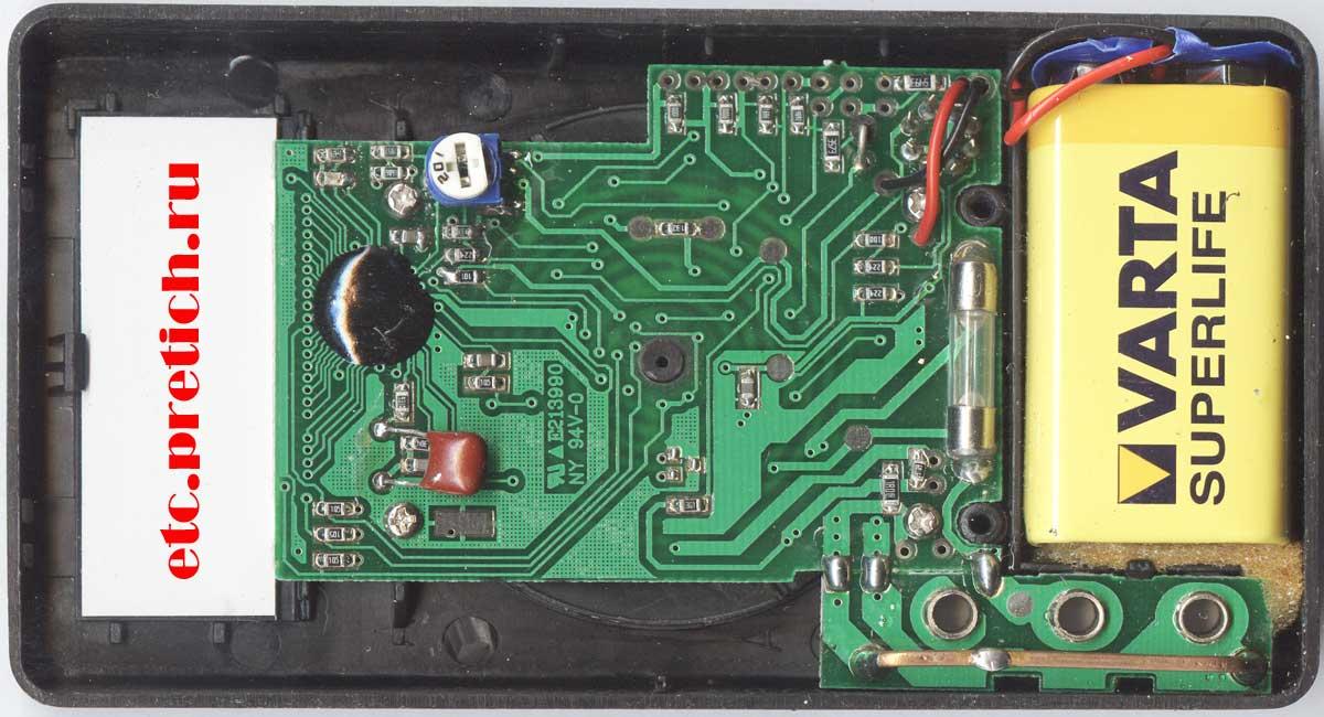 разборка и ремонт мультиметра DT-830B