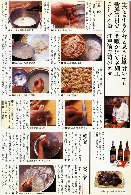 правильная японская кухня в иллюстрациях из журнала 1983 года