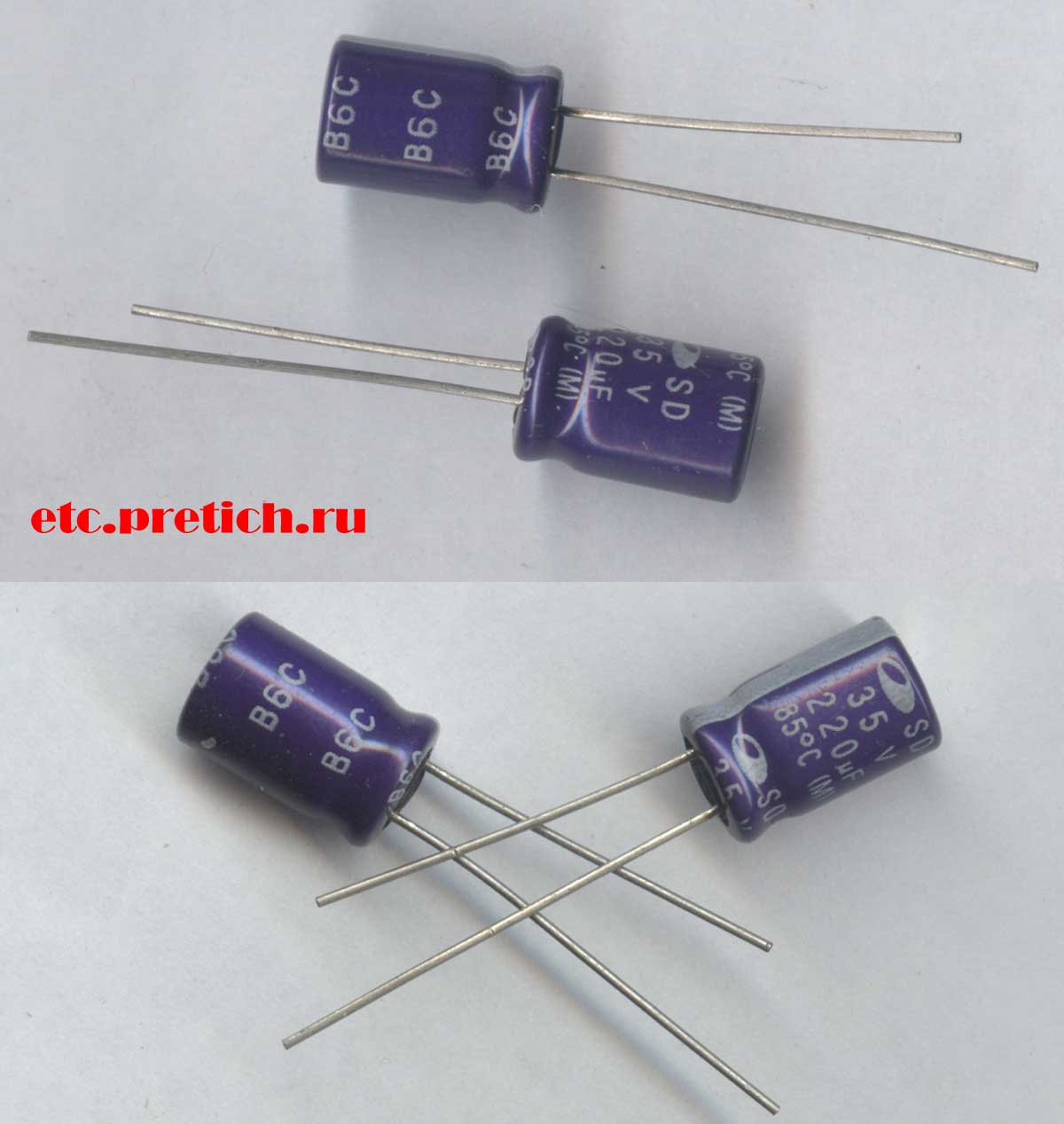 отзыв на конденсатор SAMWHA 220µF 35v алюминиевый электролитический