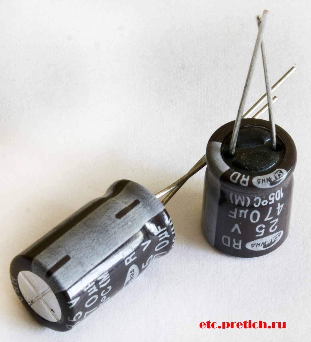 SAMWHA 470µF 25v электролитический конденсатор, отзыв