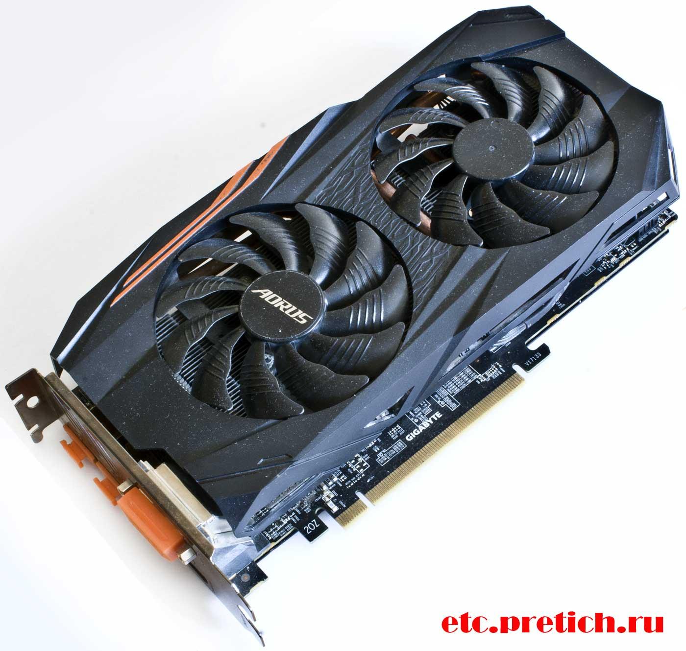 GIGABYTE AORUS Radeon RX580 8G отзыв на видеокарту, для игр