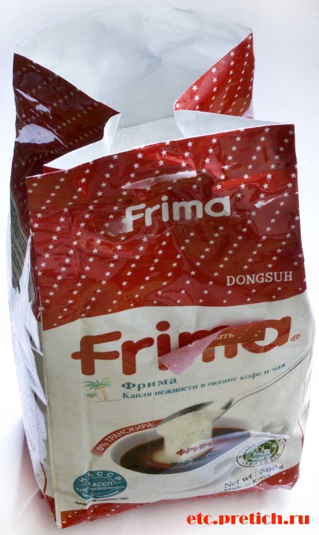 Есть ли вред от FRIMA - сухих сливок, отзыв