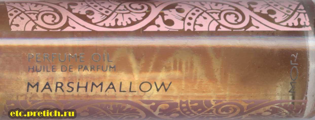 Парфюмерное эфирное масло MOR Marshmallow описание