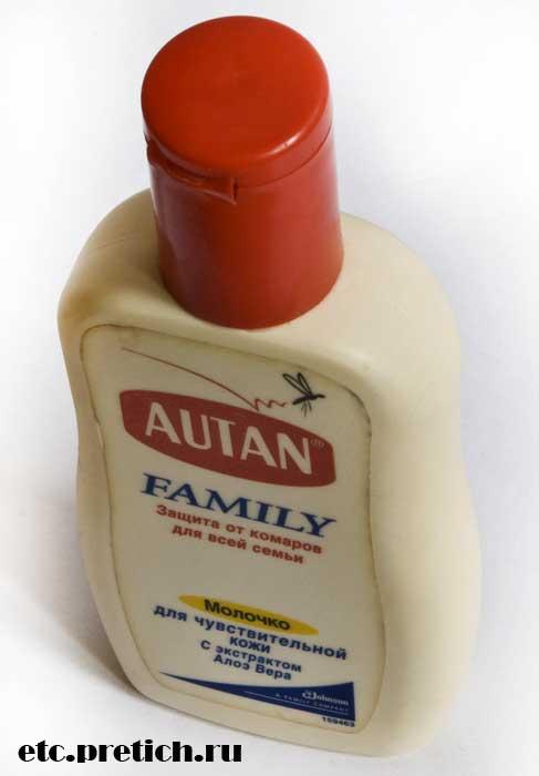 молочко AUTAN Family средство от комаров - отзыв