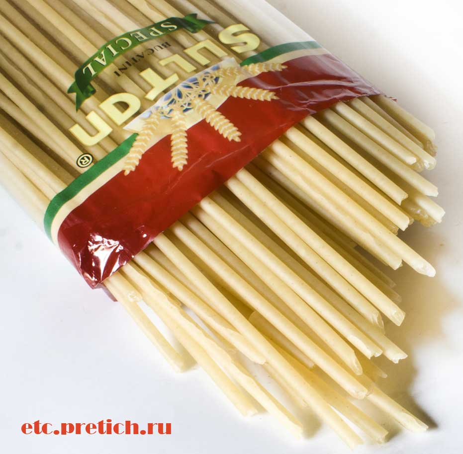 Букатини толстое спагетти с дыркой, Султан из Казахстана