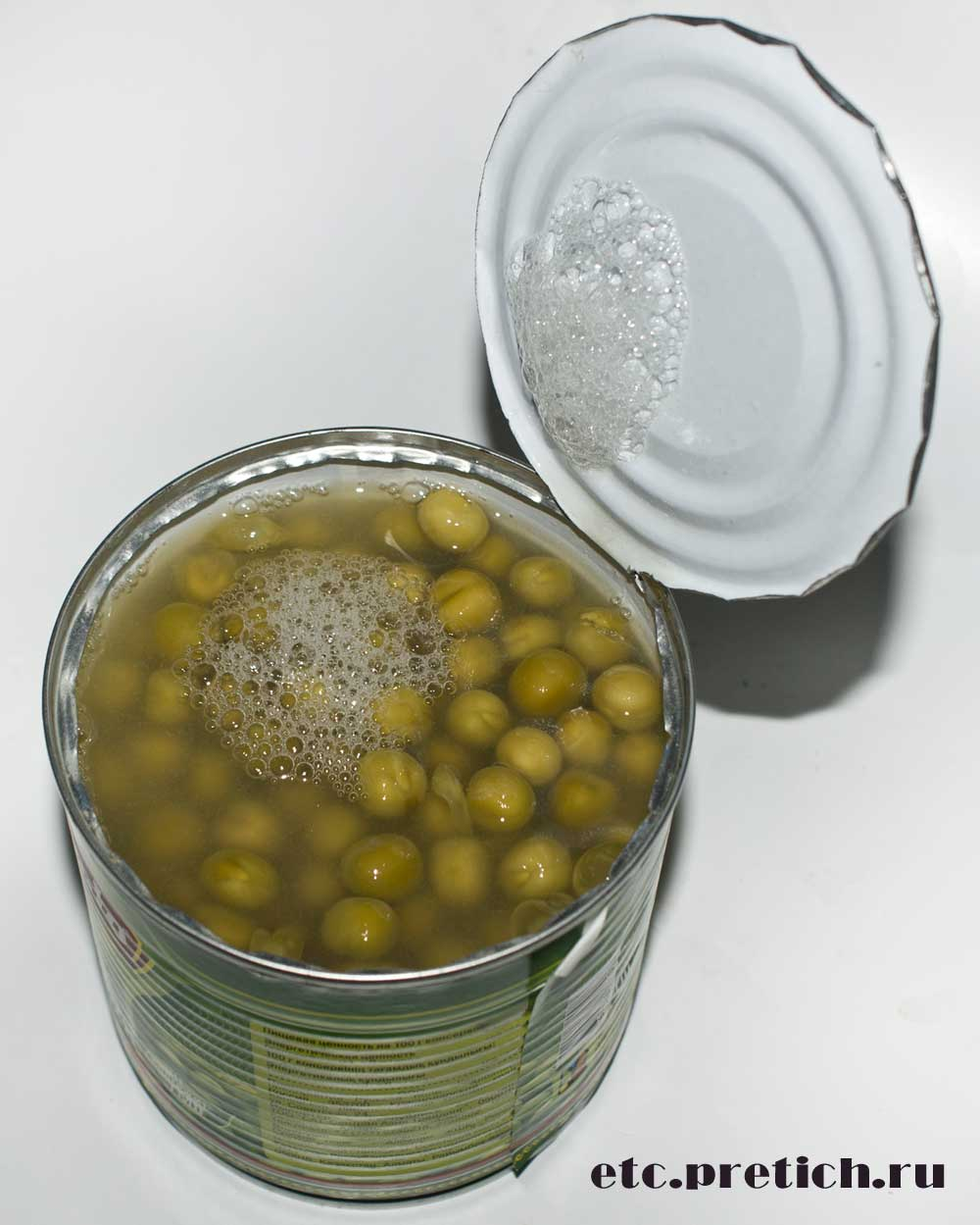 Corrado горошек зеленый консервированный вскрываем консервы и пробуем