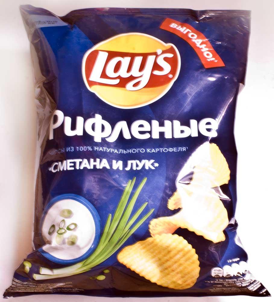 отзыв на LAY's чипсы сметана и лук рифленые дрянь