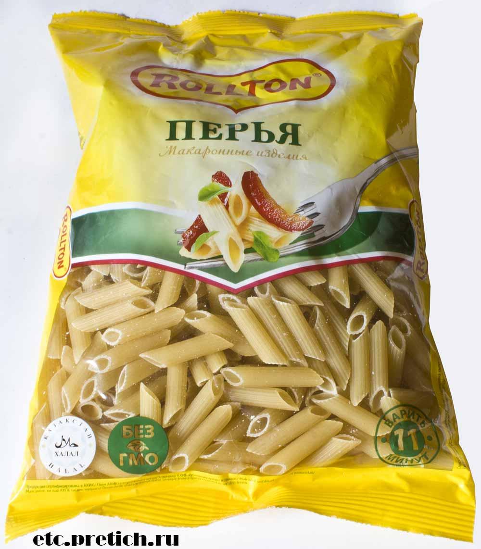 отзыв на Rollton макароны Перья сделано в Казахстане