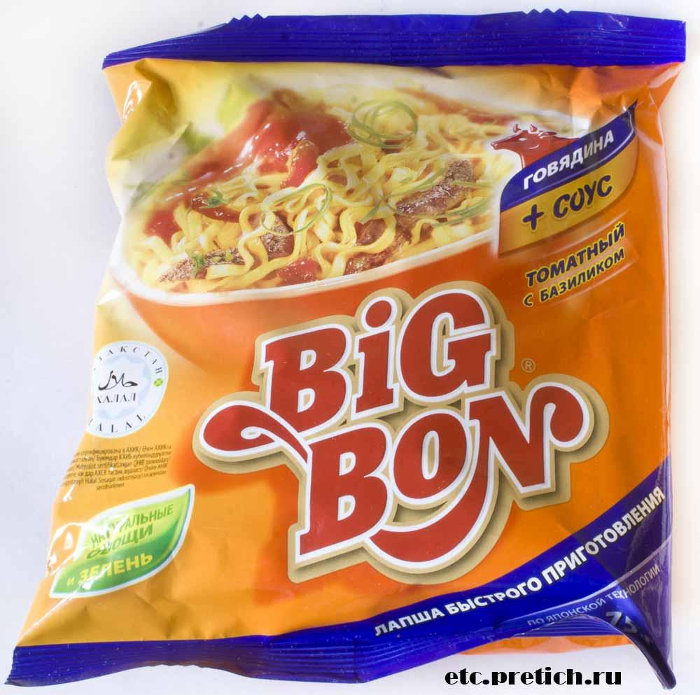 отзыв на лапшу быстрого приготовления Big Bon говядина плюс соус