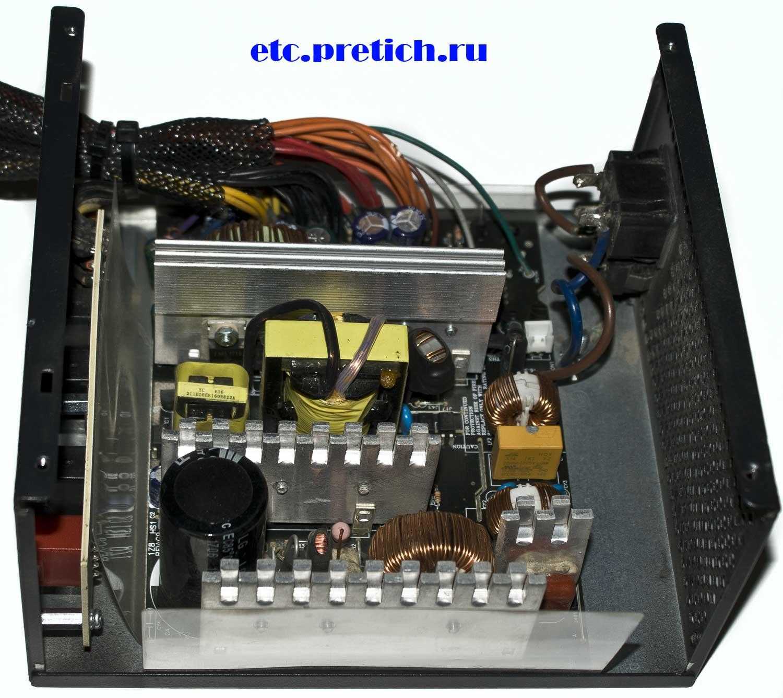 AeroCool KCAS-650M полная разборка блока питания