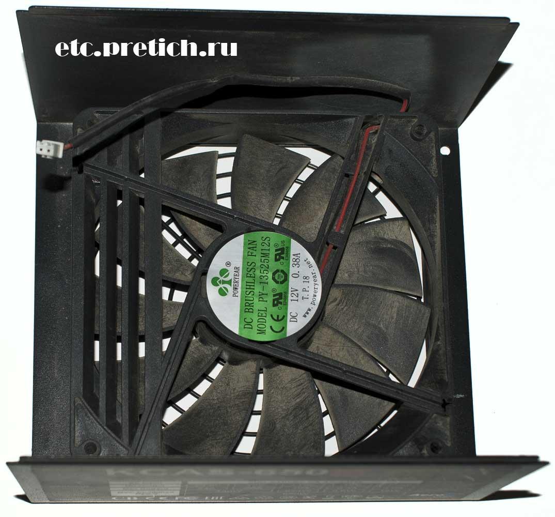 AeroCool KCAS-650M вентилятор в БП Poweryear PY-13525M12S