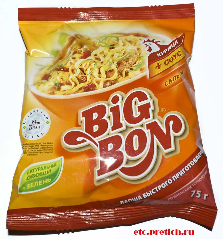 Отзыв на BiG-BON курица и соус сальса лапша БП хорошо