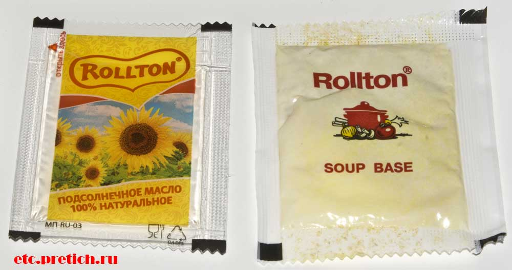 Rollton - куриный вкус масло подсолнечное и суповая основа