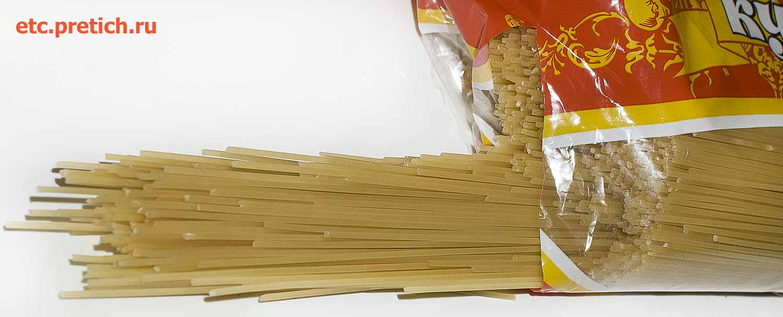 Спагетти Купеческие - Союзпищепром, какие они на вид, сколько варить?