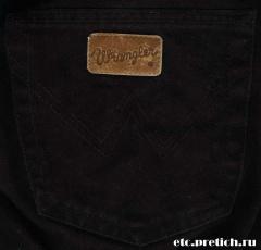 Wrangler - черные джинсы