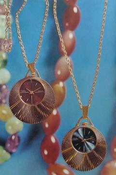 Женские часы-кулоны Второго Московского часового завода Слава, СССР - середина 70-х годов