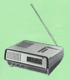 Радио часы электронные Электроника 2-07, СССР, 1981 год