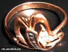 Золотое кольцо с неведомым камешком, 535 проба - кажется... наверное, Турция?