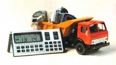 Машина модель-копия КАМАЗ и микрокалькулятор - сделано в СССР, 1985 г.